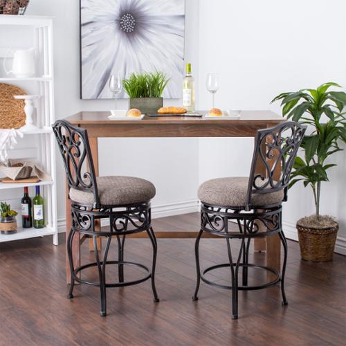 I Love Living Chase 24 Inch Swivel Counter Stools Set Of