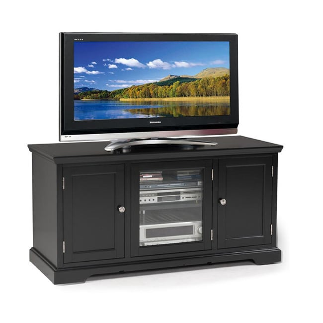 KD Furnishings Hardwood Black 50-inch TV Stand
