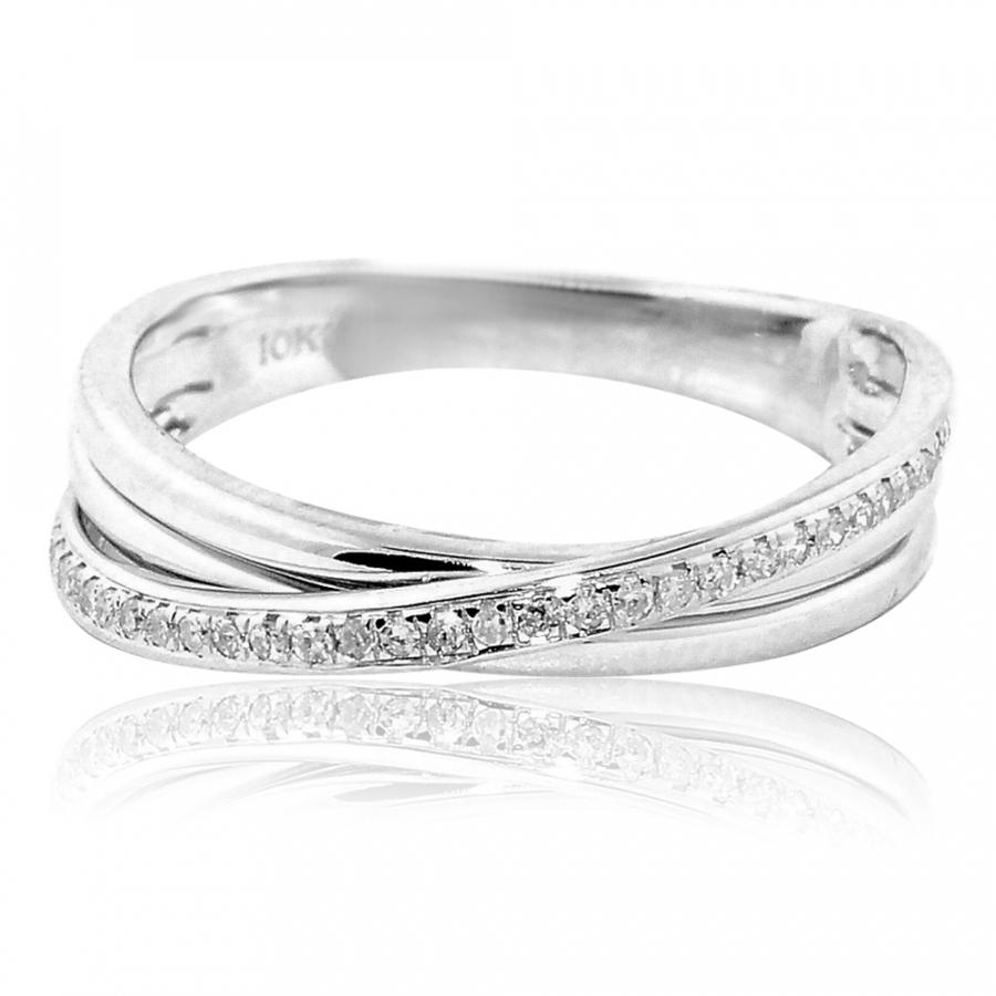 Midwestjewellery 1 10cttw Diamond Wedding Band Ring Criss Cross