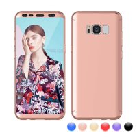 """Galaxy S8 Case, Case For Galaxy S8 5.8"""", S8 Screen Protector, Njjex Thin Premium Dual Layer Hard Case For Galaxy S8 with Tempered Glass Screen Protector For Galaxy S8 (2017) SM-G950 -Rose Gold"""