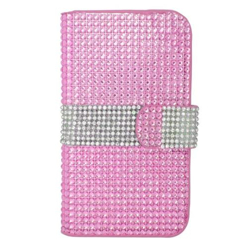 Insten Book-Style Leather Case For iPhone 6 Plus/6s Plus,LG G5/G3/G2,Motorola Droid Turbo 2 Moto X(2nd Gen),Galaxy Note 2 1 S5 S6 S6 S7,ZTE Warp Elite/ZMAX 2 - Hot Pink
