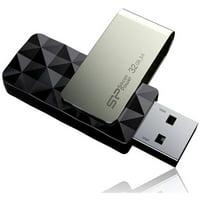 Silicon Power 32GB Blaze B30 USB 3.0 Swivel Flash Drive, Black
