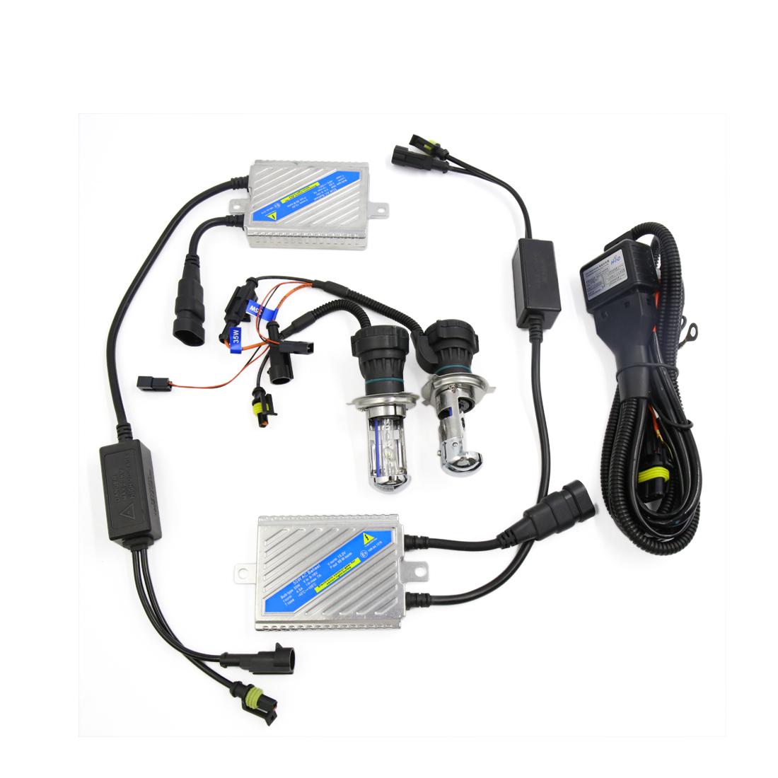 2PCS H4 12V 55W 8000K Hi/Lo Beam HID Headlight Conversion Lamp Bulb Kit for Car