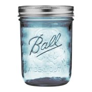 Ball Wide Mouth Collection Elite Blue Pint Gl Mason Jars With Bands And Lids 16