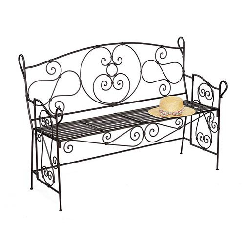 Achla Designs Ferro Firenze 51 in. Bronze Metal Garden Bench
