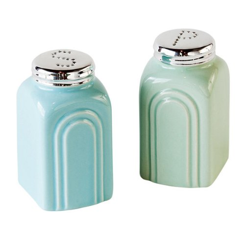 50s Retro StoNeware Salt and Pepper Shakers Set by 180D
