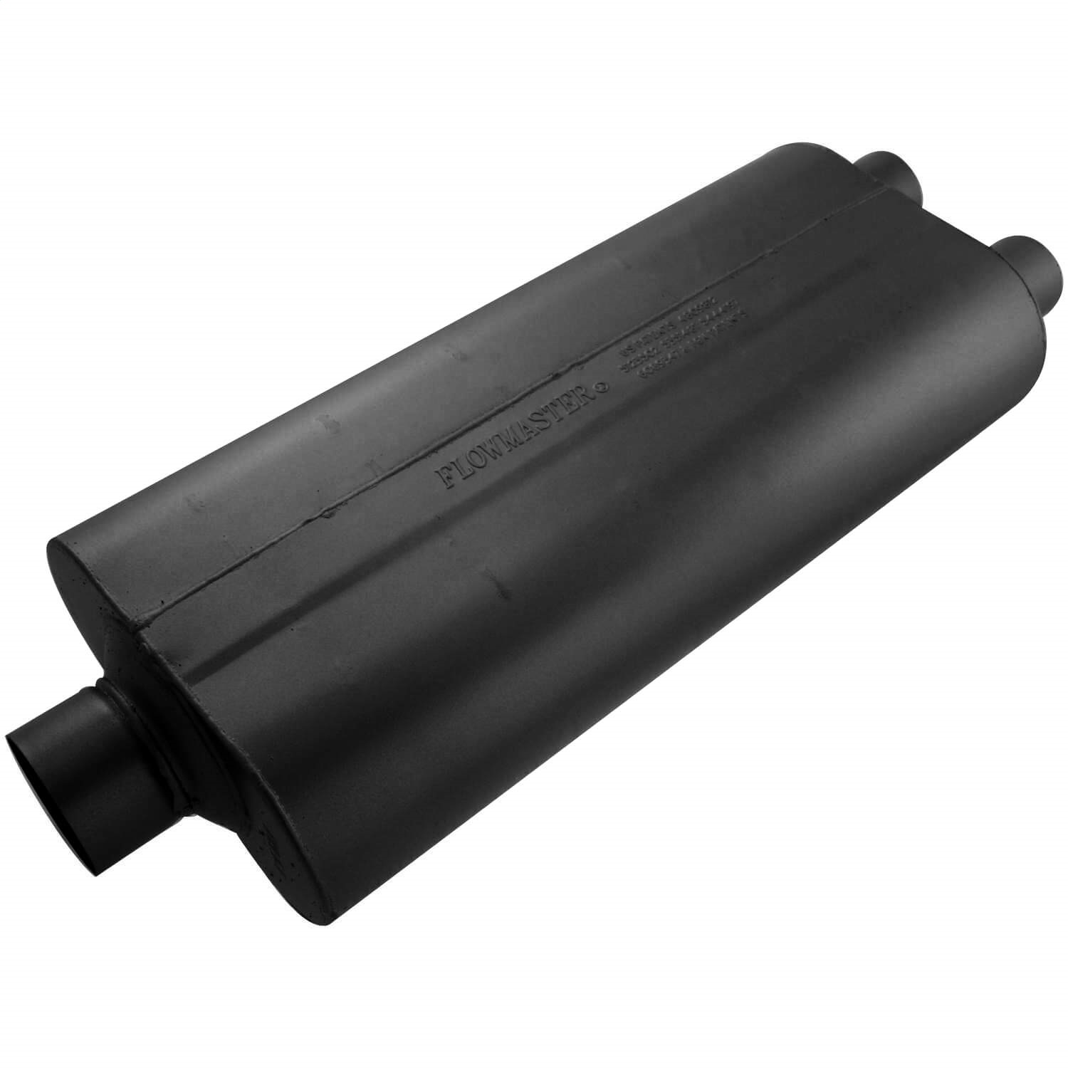 3.00 Center IN Flowmaster 530722 70 Series Muffler Mild Sound 2.25 Dual OUT