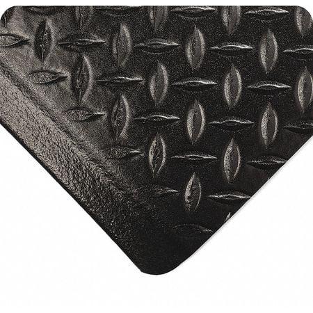 WEARWELL 513.12X4X6DPBK Anti-Fatigue Diamond Mat,4ft. x 6ft.