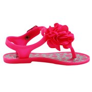 Stepping Stones Baby Girls Hot Pink Polka Dot Glitter Flower Thong Sandal    Jelly Sandals with a88c1836c