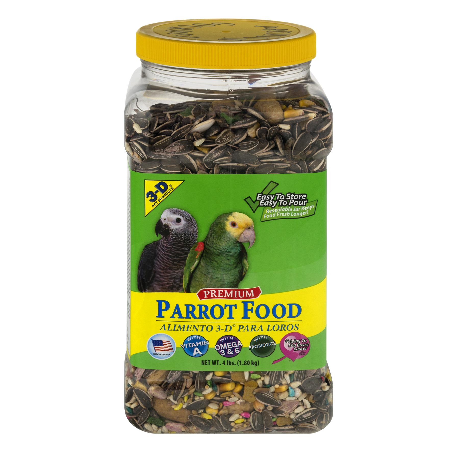 Image of 3-D Premium Parrot Food, 4.0 LB
