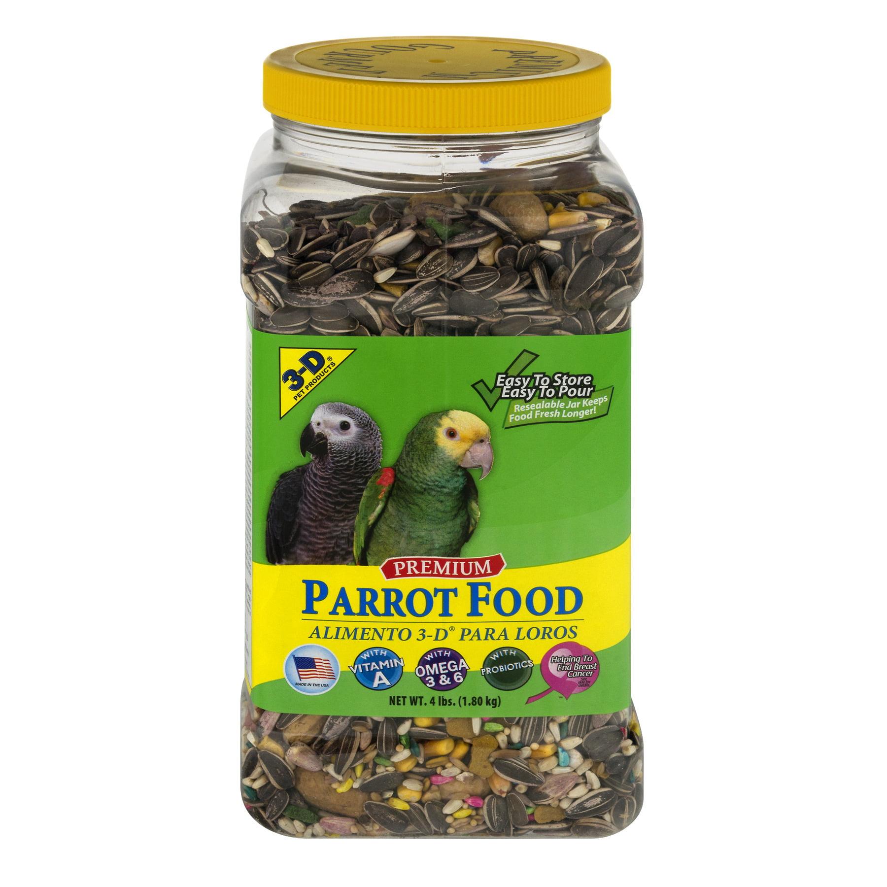 3-D Premium Parrot Food, 4.0 LB