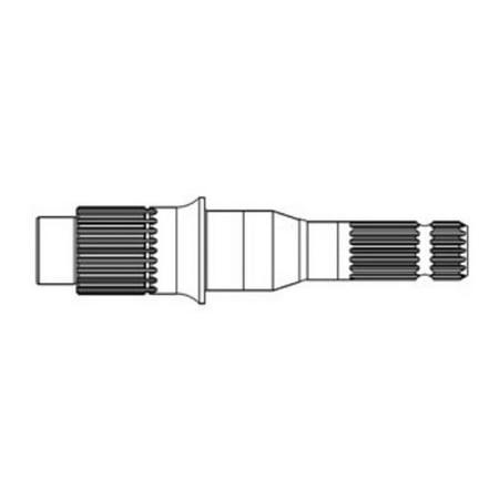 A148833 New Case 70 1370 1570 2390 2394 2590 2594 3394 3594 PTO Shaft 1000 RPM 1625 Rpm Double Shaft