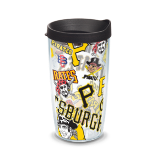 MLB Pittsburgh Pirates All Over 16 oz Tumbler with lid