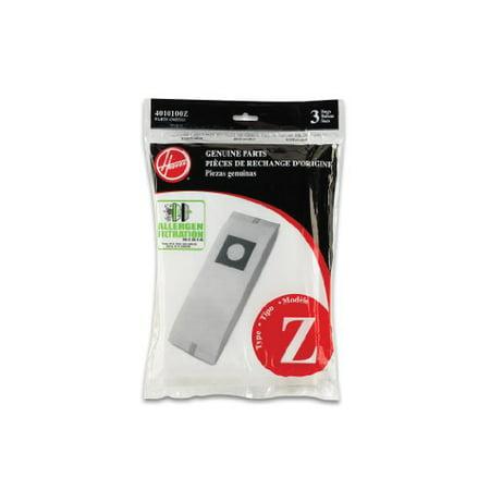 Hoover 4010100Z Type Z Allergen Vacuum Bags, 3 Count ()