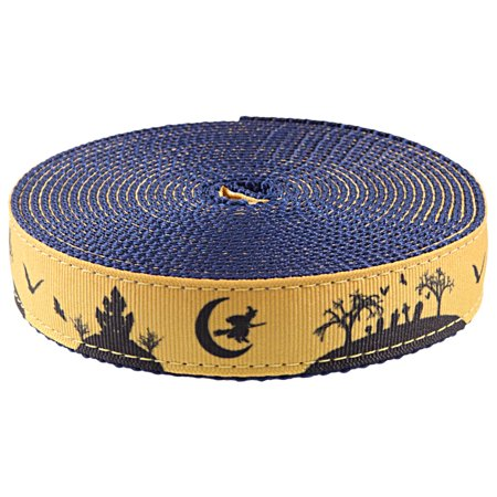 Country Brook Design® 1 Inch Halloween Night on Navy Blue Nylon Webbing Closeout, 5 Yards - Halloween Closeout