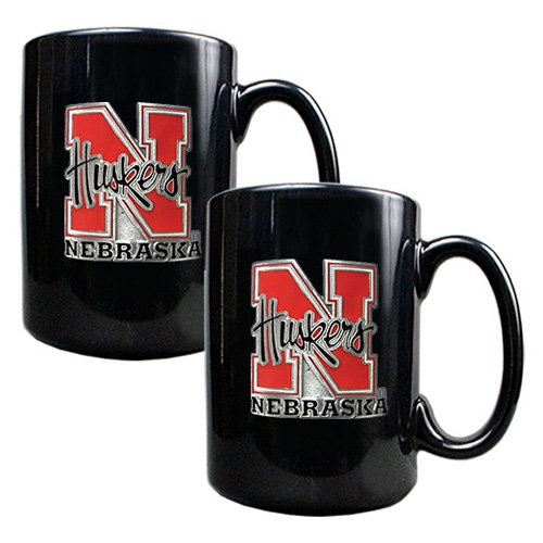 Great American NCAA Black Ceramic Mug Set