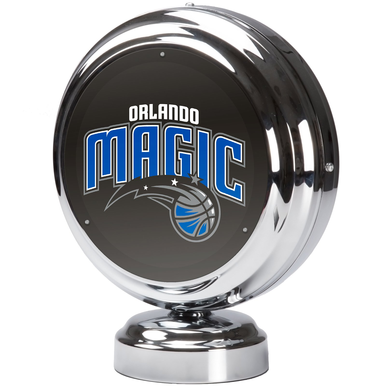 Orlando Magic NBA Chrome Retro Style Tabletop Neon Clock