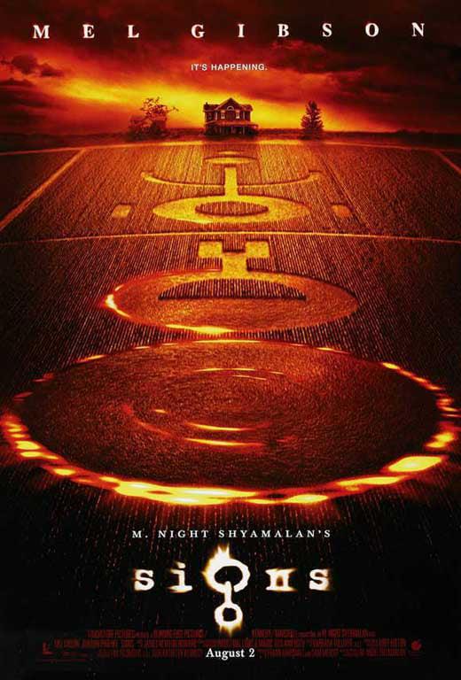 NEW SIGNS M.NIGHT SHYAMALAN FILM MOVIE ORIGINAL CINEMA PRINT PREMIUM POSTER