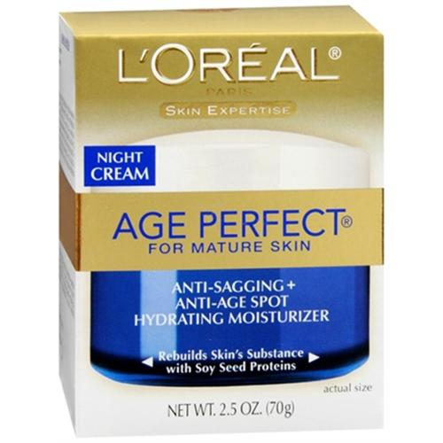 L'Oreal Dermo-Expertise Age Perfect for Mature Skin Night Cream 2.50 oz (Pack of 6)