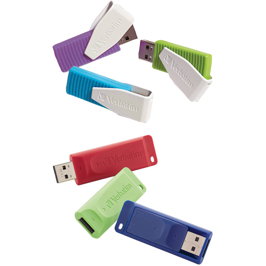 Verbatim Store 'n' Go 8GB USB Drives, 6-Pack