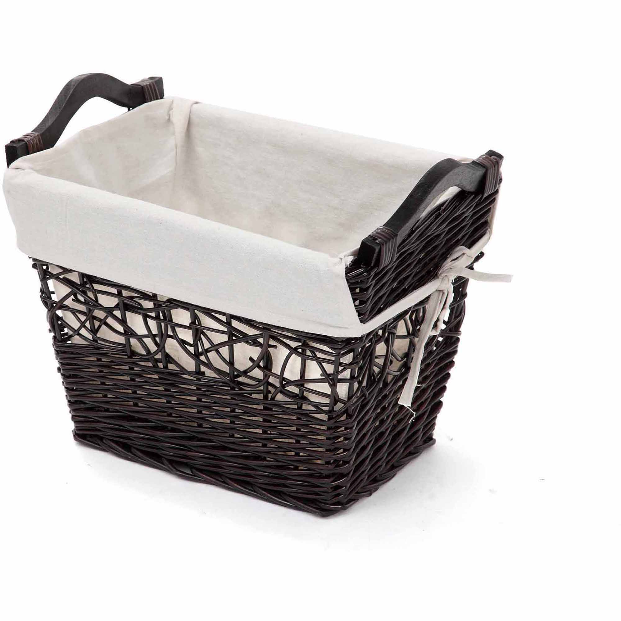 Better Homes and Gardens Large Willow Tapered Basket, Dark