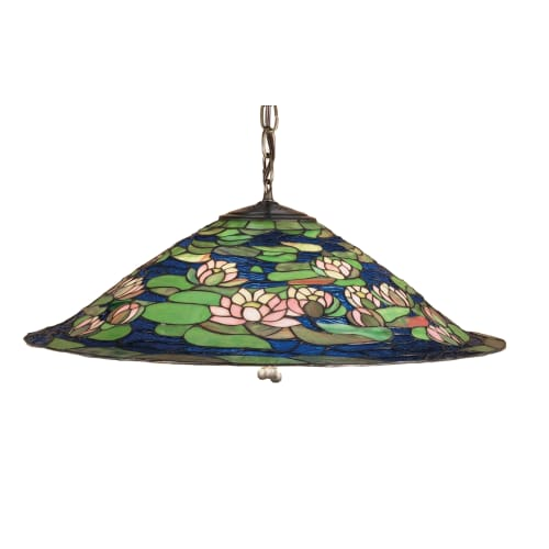 "Meyda Tiffany 47717 3 Light 24"" Wide Pendant with Handmade Shade by Meyda Tiffany"