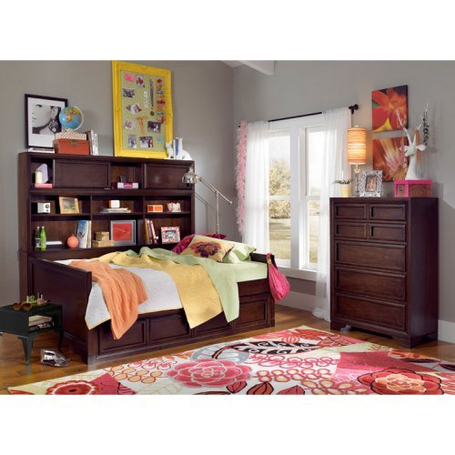 Benchmark Bookcase Daybed - Root Beer