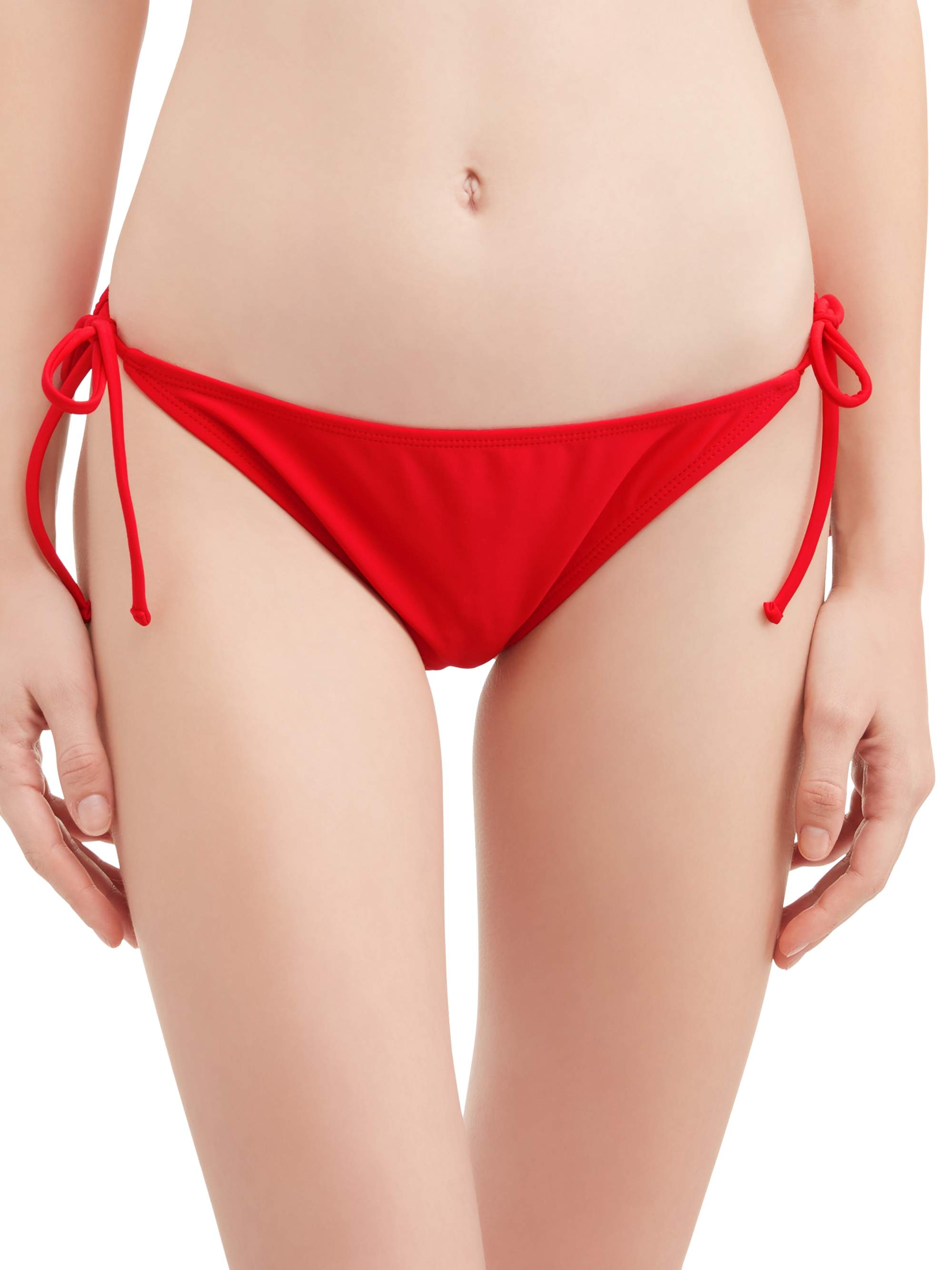 Juniors' Solid Side Tie Swimsuit Bottom