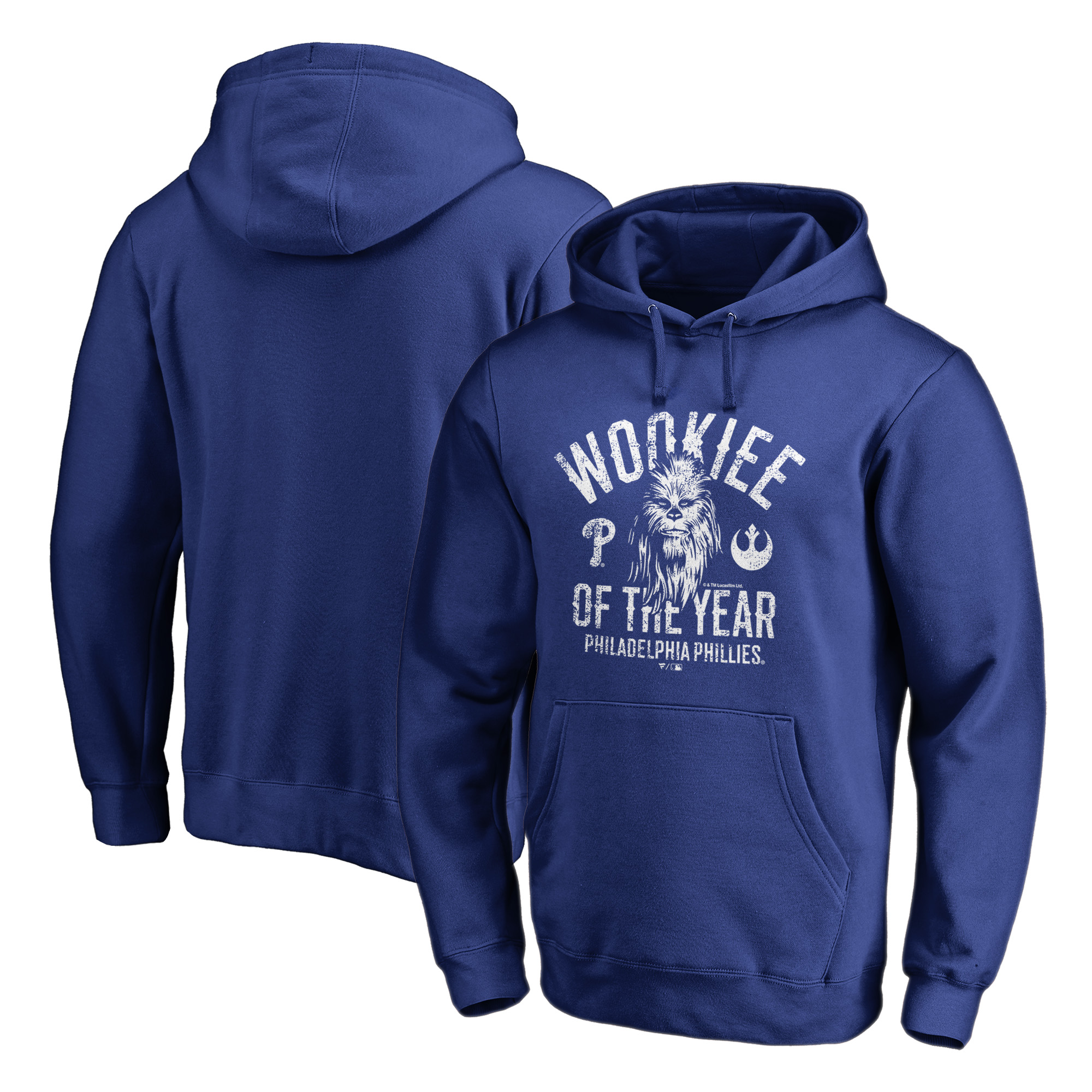 Philadelphia Phillies Fanatics Branded Star Wars Wookiee Of The Year Pullover Hoodie - Royal