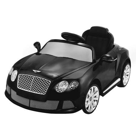 12 V Bentley Gtc Kids Ride On Car W  Rc   Led Lights   Mp3   Red