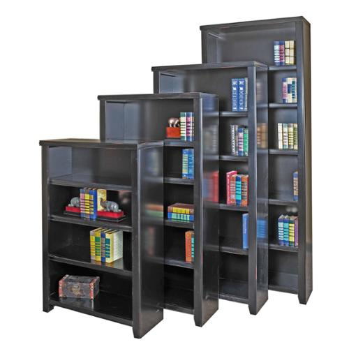 Tansley Landing Black Bookcase 84 in. Tall