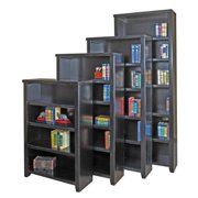 Tansley Landing Black Bookcase 84 In Tall