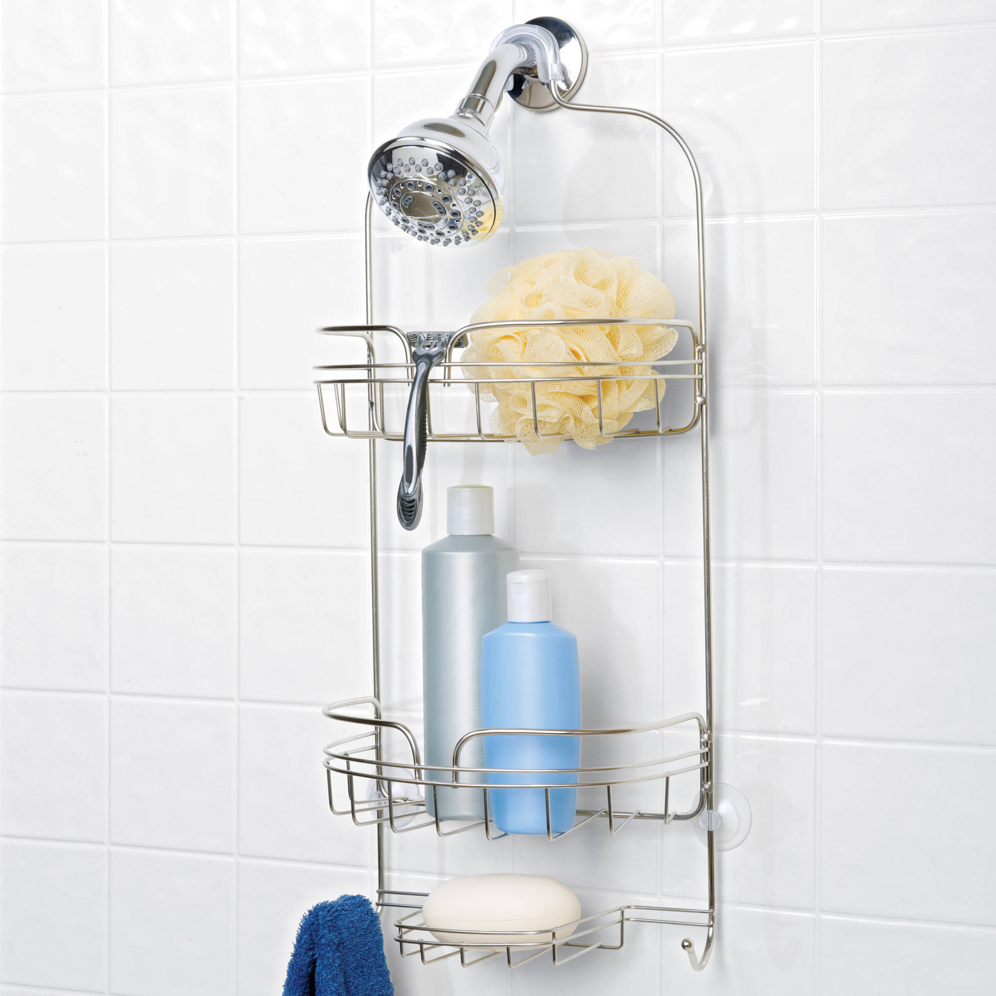 Hawthorne Place Large Shower Caddy, Stainless Steel