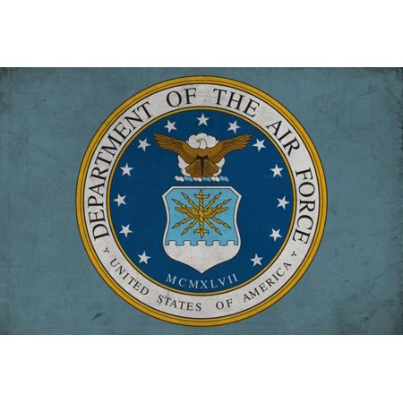 Department of the Air Force - Military - Insignia Print Wall Art By Lantern Press