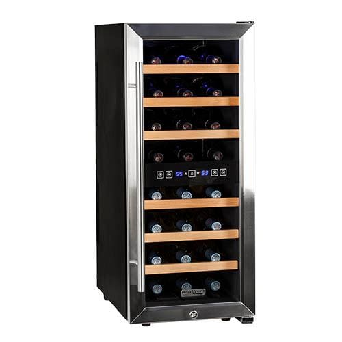 "Koldfront TWR247E 14"" Wide 24 Bottle Wine Cooler with Dual Cooling Zones"