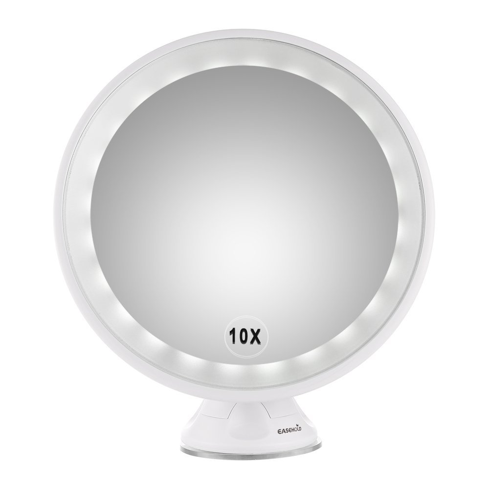 Wall Mounted Makeup Mirror Lighted easehold 10x magnifying led lighted vanity mirror makeup