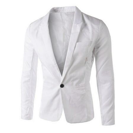 High Fashion Mens Suits (Charm Men's Casual Slim Fit One Button Suit Blazer Coat Jacket Tops Men Fashion)