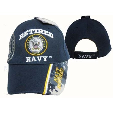 U.S. Navy Retired USN Blue Digital Camo Tip Ball Cap Hat Embroidered 3D  (CAP594) - Walmart.com 1041c049195