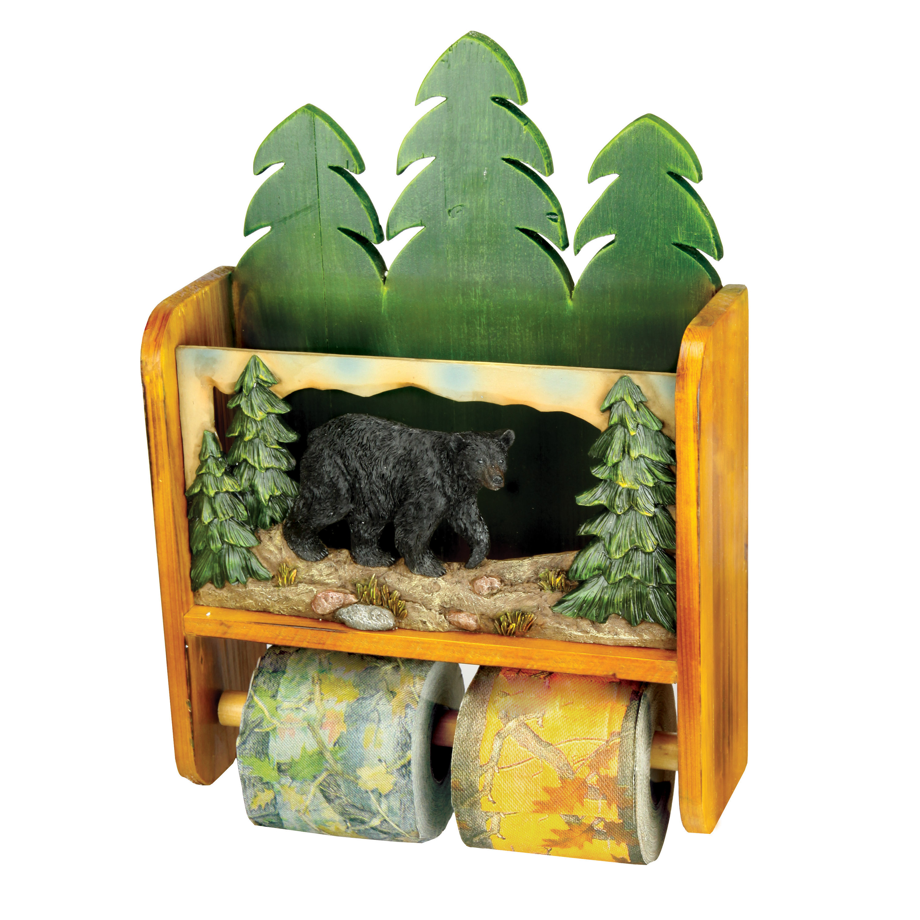 Rivers Edge Products Magazine Rack with Toliet Paper Holder Bear by Rivers Edge Products