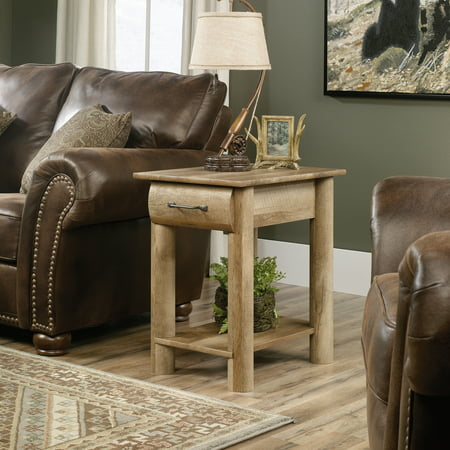 Sauder Boone Mountain Side Table, Craftsman Oak Finish Craftsman Wood Finish Table