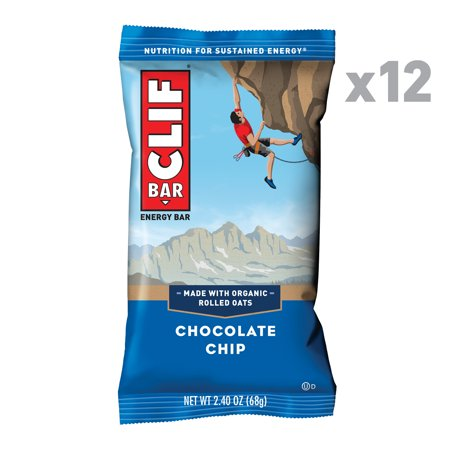 CLIF Bar, Chocolate Chip, 2.4 Oz, 12 Ct Energy