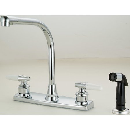 Hardware House 2-Handle Kitchen Faucet w/ Sprayer