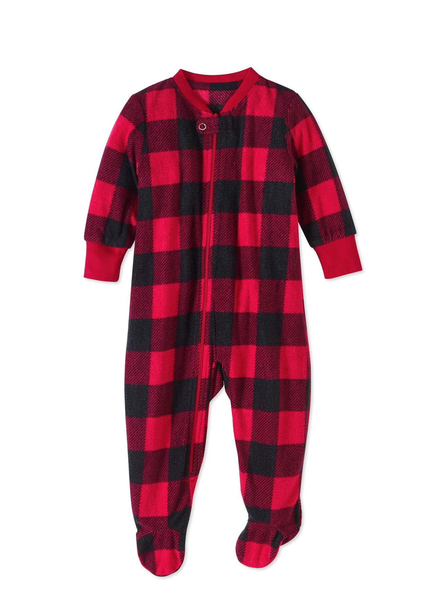 201f79d2af HOLIDAY - Family Pajamas Newborn Baby Unisex Buffalo Check Footed Blanket  Sleeper - Walmart.com