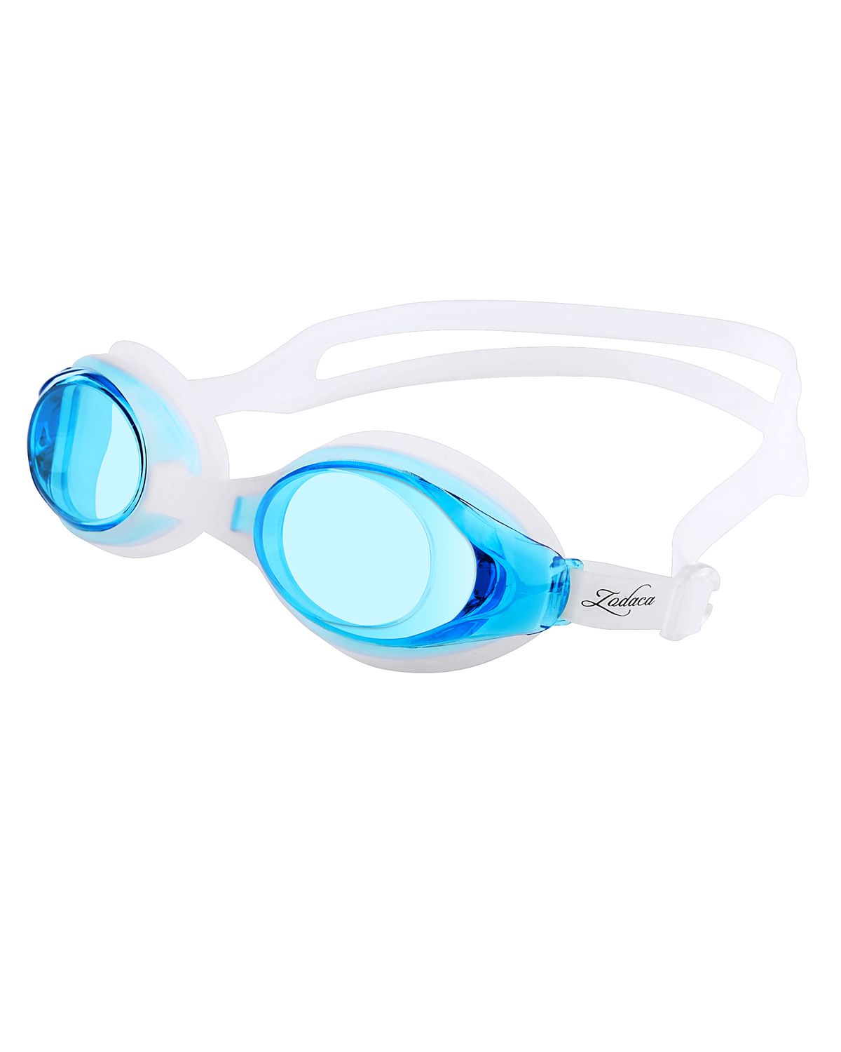 Zodaca Kids Child Adjustable Non-Fogging Anti UV Swim Swimming Goggles Glasses Light Blue (with Storage Case & Ear plugs... by Insten