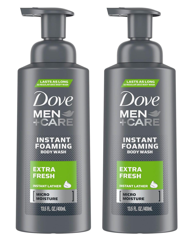 2 Pack Dove Men Care Extra Fresh Foaming Body Wash 13 5 Oz Walmart Com Walmart Com
