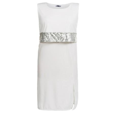Women\'s Sleeveless Sequined Split Bodycon Party Dress Plus ...