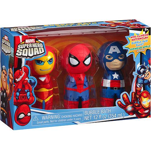 marvel squad bath gift set 3 pc