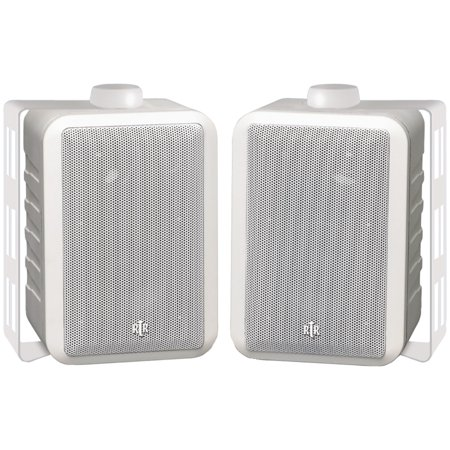 Bic America Rtrv44 2W 4   Rtr Series Indoor Outdoor 3 Way Speakers  White