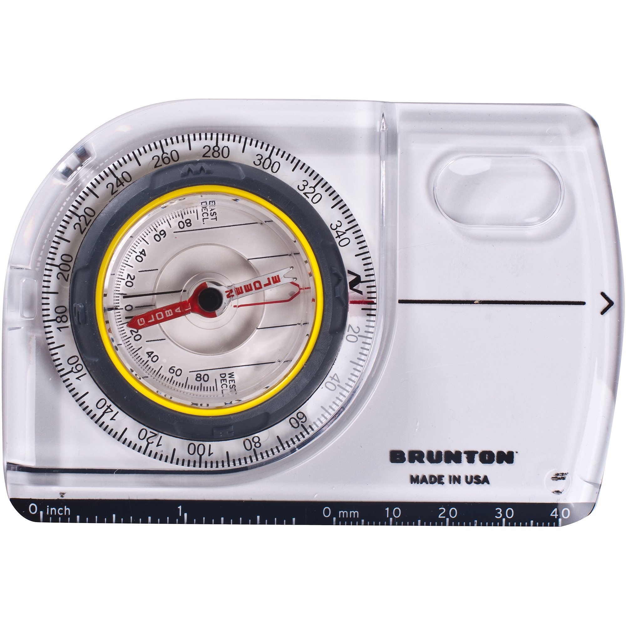 Brunton TruArc5 Baseplate Compass with Global Needle, Map Mag and Standard/Metric Scales