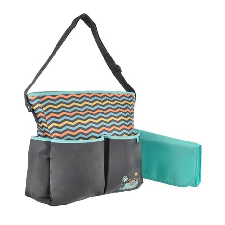 Baby Boom 8 Pocket Tote Diaper Bag, Elephant by Baby Boom